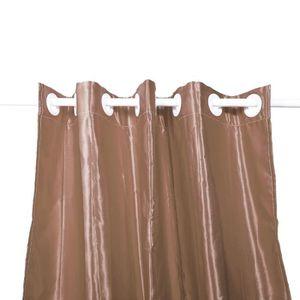 RIDEAU DE PORTE Lot de 2 Rideaux occultant chocolat 140x260cm