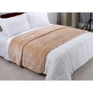 plaid 160x200 achat vente plaid 160x200 pas cher cdiscount. Black Bedroom Furniture Sets. Home Design Ideas