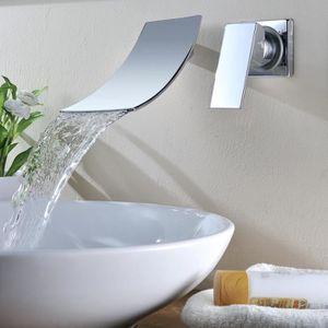 ROBINETTERIE SDB KINSE® Robinet de Lavabo Mitigeur Encastré Design