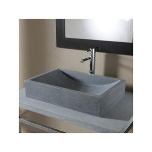 LAVABO - VASQUE Vasque à poser  en pierre naturelle Versailles Gri