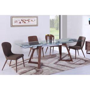 TABLE À MANGER SEULE Table de repas Design extensible BELLAGIO