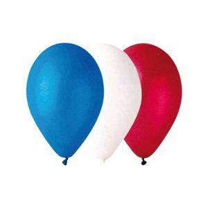 BALLON DÉCORATIF  100 BALLONS TRICOLORES BLEU BLANC ROUGE