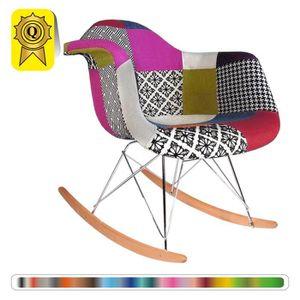 FAUTEUIL 1 x Fauteuil à Bascule Rocking Chair Eiffel  Patch