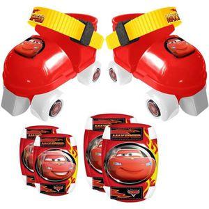PATIN - QUAD CARS Set Patins à Roulettes ajustables 23 à 27 et