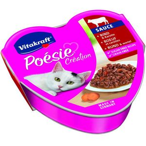 BOITES - PATÉES VITAKRAFT Barquette Poésie bœuf et carotte en sauc