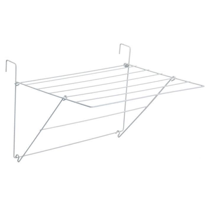 SAUVIC Séchoir à linge de balcon plastifié - Blanc