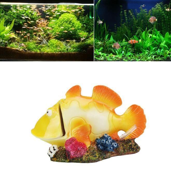 Dessin Animé Résine Château Aquariums Décoration Aquarium Poisson Réservoir Tour@116