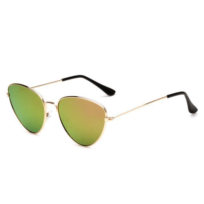 New Metal Cat Eye Sunglasses Lunettes de soleil pour femmes Trend Sunglasses