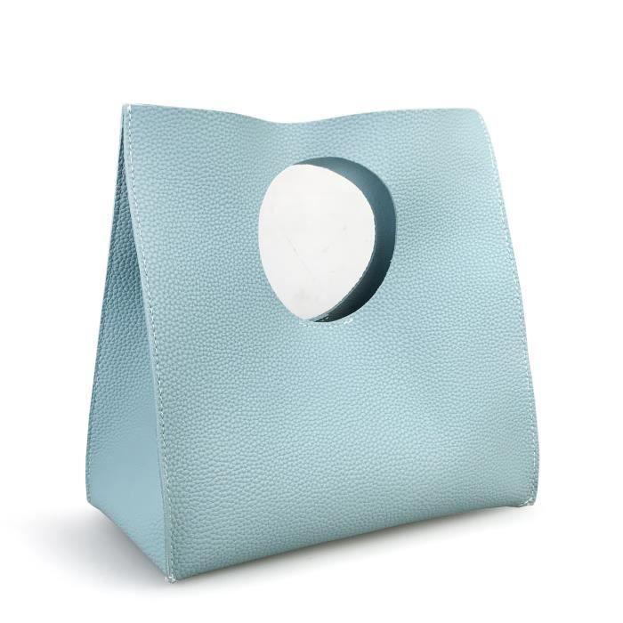 Vintage Style Minimaliste souple Pu cuir sac à main dembrayage Petit sac KCAJX
