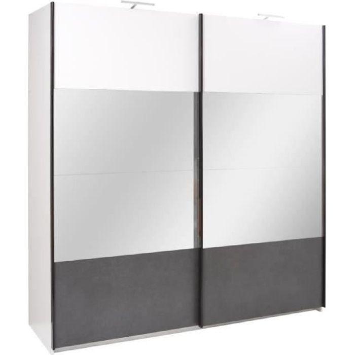PRICE FACTORY - Armoire design RENATO 2 portes coulissantes avec ...