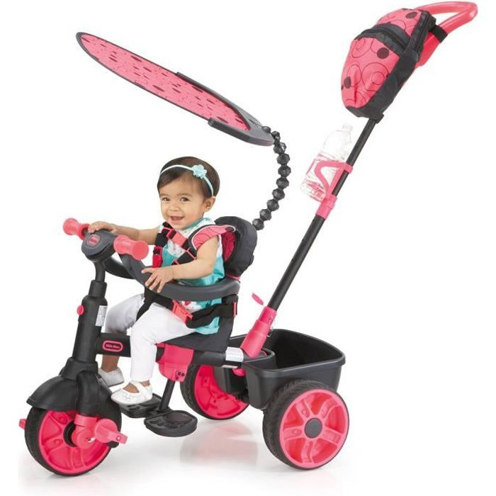 little tikes tricycle evolutif 4 en 1 deluxe edition neon rose achat vente tricycle cdiscount. Black Bedroom Furniture Sets. Home Design Ideas