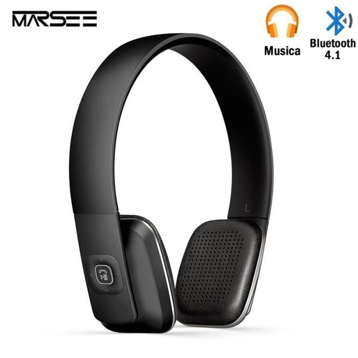 Casque Bluetoothmarsee Bluetooth 41 Haute Fidélité Sans Fil Pour