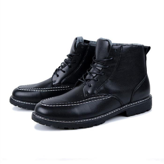 Mode hommes chaussures de cheville bottes chaud...