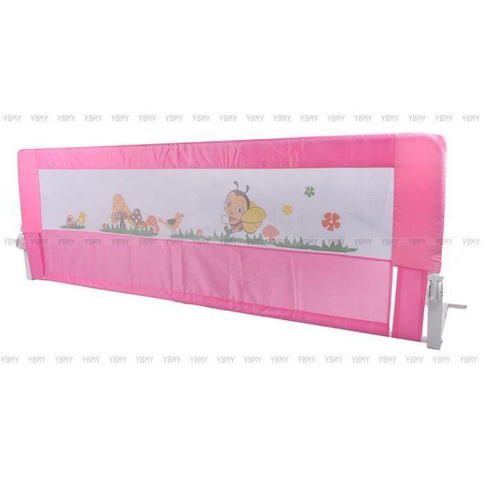 150 180 Cm Barriere De Lit Enfants Securite Protection Tissue Bas