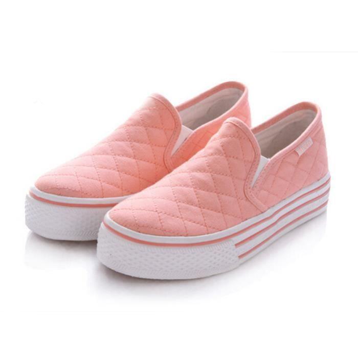 Chaussure Femme Printemps Été Comfortable plate Chaussures LKG-XZ068Rose39