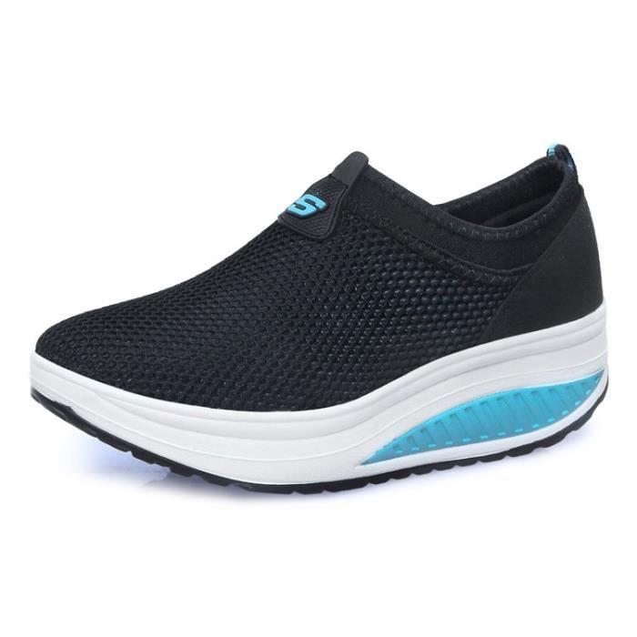Sneakers chaussures femme Les dames ont augmenté les espadrilles