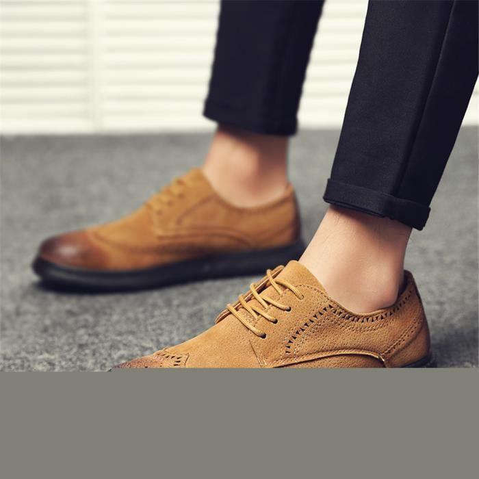 Derbies Hommes Haut qualité Nouvelle Arrivee Cuir Chaussure Durable Chaussure Confortable Antidérapant 39-44