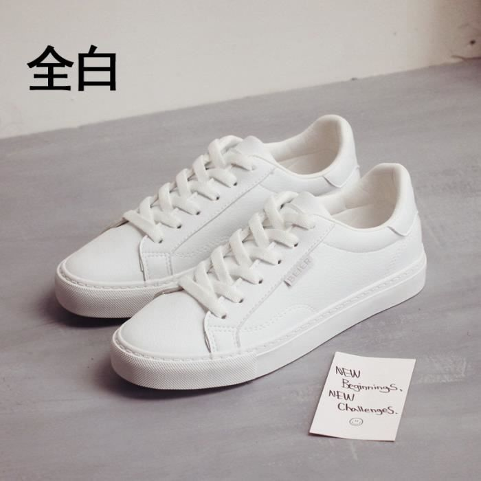 choisir le dernier grand choix de le plus fiable Chaussures Detente Femme, nouvelles, petite chaussure blanche, fond plat,  chaussure de respirant, printemps et automne