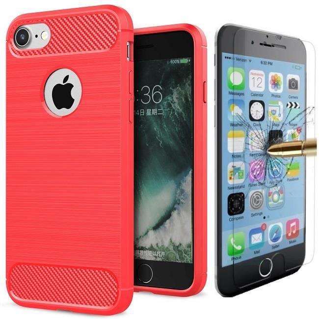 coque iphone 6 plus antichoc rouge