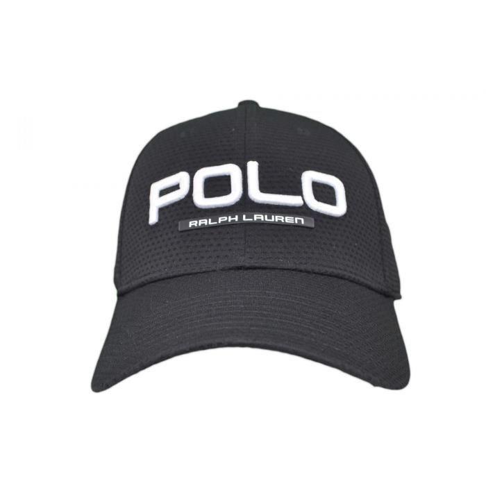ad802ba1a76 Casquette Ralph Lauren Polo noire pour homme - Couleur  Noir - Taille  TU