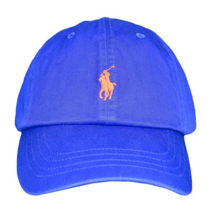 Casquette Ralph Lauren bleu royal logo orange pour homme - Couleur  Bleu -  Taille  TU abe8bdc7ce0