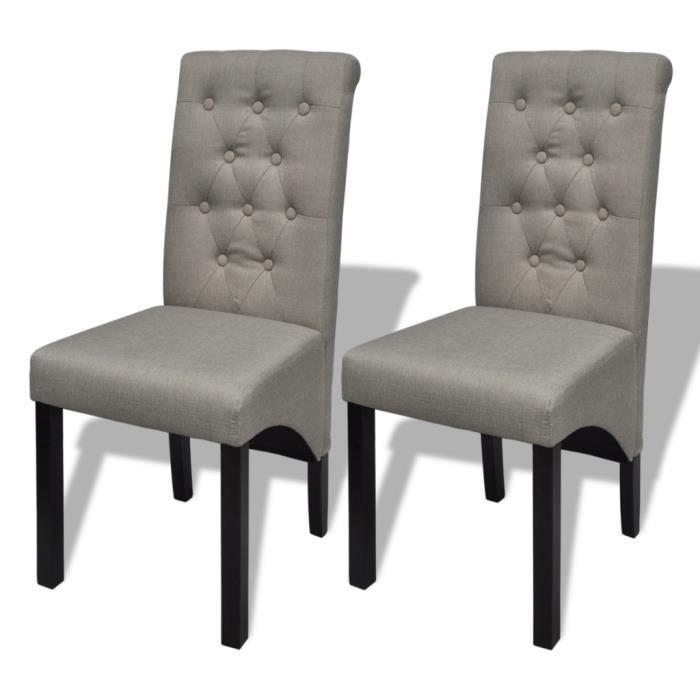 lot de 2 chaises de salle 224 manger salon beige achat