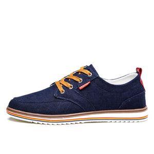Chaussures En Toile Hommes Basses Quatre Saisons Populaire BJXG-XZ133Gris41 M9Jf4hojD