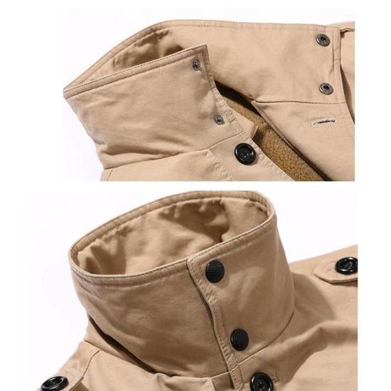 D'hiver Matelassée Vêtement Casual Mode Montant Hommes Col Veste xPvqw07F0