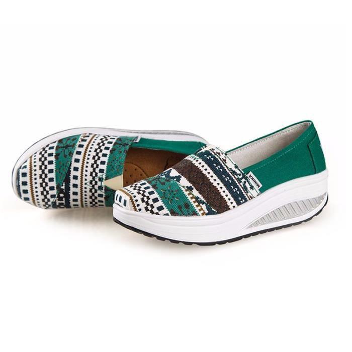 Chaussures Femme Printemps Été à fond épaiséChaussure YLG-XZ064Vert37