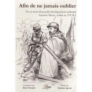 LIVRE HISTOIRE FRANCE Afin de ne jamais oublier...