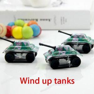 VOITURE - CAMION 10 Pièces Mini Tank Mécanique Ressort Jouet Mouvan