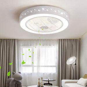 VENTILATEUR DE PLAFOND Ventilateur lampe Plafonnier à LED moderne minimal