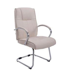 Fauteuil de bureau beige achat vente fauteuil de - Chaise de bureau reglable en hauteur sans roulette ...