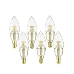 AMPOULE - LED Lot de 6 Ampoules LED Flamme E14 4W - 2700K Blanc