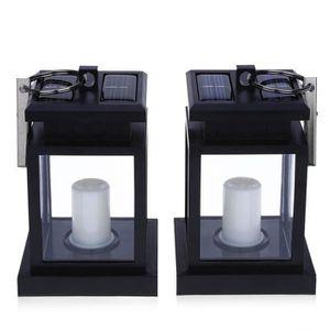 LAMPE VERTE 2PCS lanterne de bougie exterieure LED a energie s
