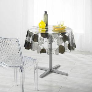 nappe ronde pvc achat vente pas cher. Black Bedroom Furniture Sets. Home Design Ideas