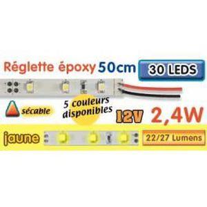 AMPOULE - LED Réglette LED époxy 50 cm 2W4 12V jaune
