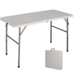 Table blanche pliante achat vente pas cher - Table valise pliante ...
