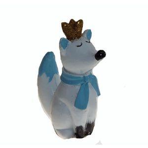 Figurine décor gâteau 1 sujet renard en résine - baptême garçon - Décora