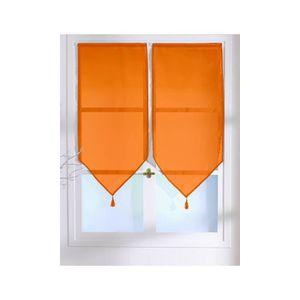 voilage orange achat vente voilage orange pas cher cdiscount. Black Bedroom Furniture Sets. Home Design Ideas