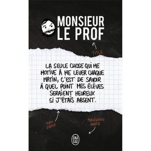 CROQUE MONSIEUR Livre - Monsieur le Prof