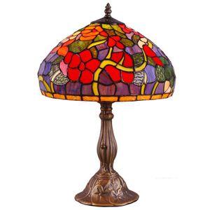 LAMPE A POSER lampe de salon Tiffany verre et métal véritable ha
