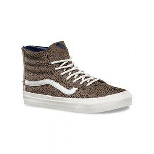 CHAUSSURES MULTISPORT VANS Chaussures Sk8-Hi Slim Zip Cheetah Suede Femm