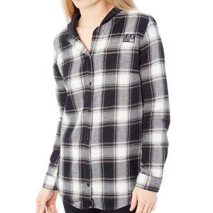SWEATSHIRT chemise à capuche femme Fox Deny Flannel Noir