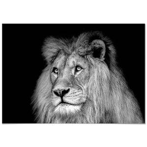 tableau lion achat vente pas cher. Black Bedroom Furniture Sets. Home Design Ideas