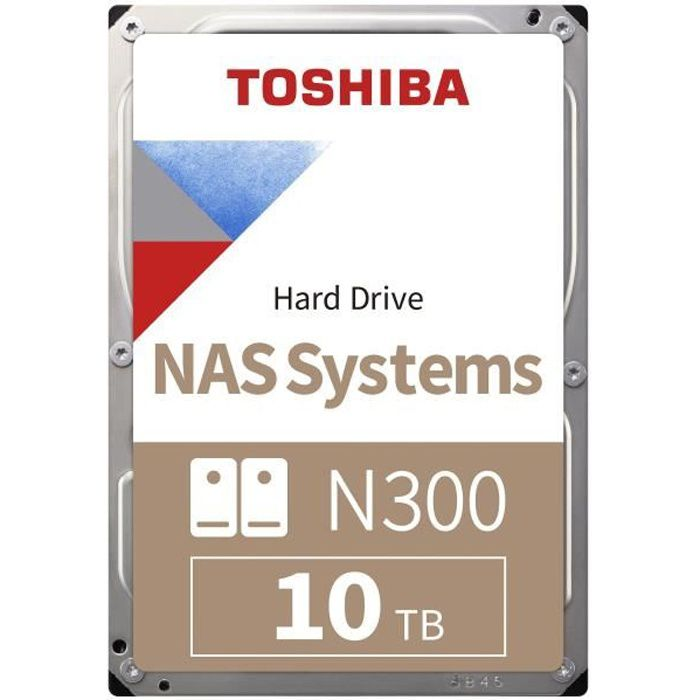 TOSHIBA - Disque dur Interne - N300 - 10To - 7 200 tr/min - 3.5\