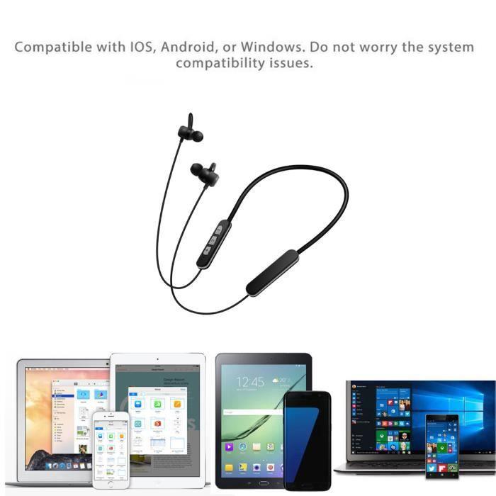 Basilesmile®écouteur Sport Stéréo D'écouteur De Casque Sans Fil Bluetooth Pour L'iphone 7 Plus Sh617i