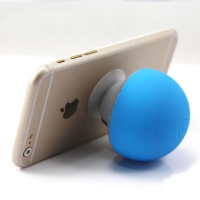 Champignons Bluetooth Portables Sans Fil Mini-bande Dessinée De Haut-parleur (bleu)