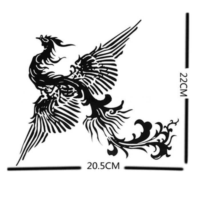 Le Totem Phénix Tatouages Temporaires Imperméable Tatouages Sexy 20 22cm
