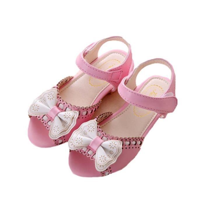 Sandales d'été Filles Sandales Princesse Chaussures Bow Filles Chaussures bébé WyamvgV